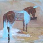 Pferd 2011, Mischtechnik auf Lwd. 28 x 32 cm