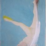 Fallender Akt 2011, Mischtechnik auf Lwd. 36 x 54 cm