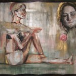 Vom Bitteren zu den Sternen 2008, Acryl auf Lwd. 203 x 154 cm