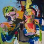 Busenfreundschaft 1, mit Julia Winter 2010, Acryl auf Lwd. 120 x 135 cm