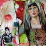 Revolution im zugeknöpften Kleid 2010, Öl auf Lwd. 155 x 135 cm