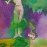 o. T., mit Marie Saalfrank und Ellen Wagner, 2013, 19,5 x 19,5 cm